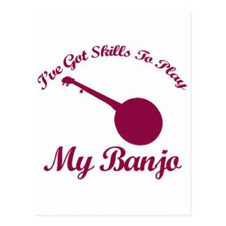 diseños del musical del banjo postales