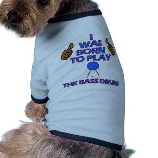 diseños del Musical del bombo Camiseta Con Mangas Para Perro