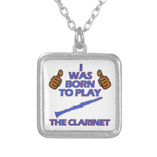 diseños del Musical del clarinet Colgante Cuadrado