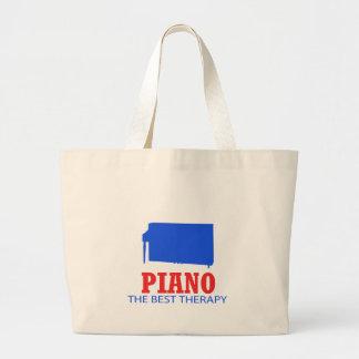 Diseños del Musical del piano Bolsa Tela Grande