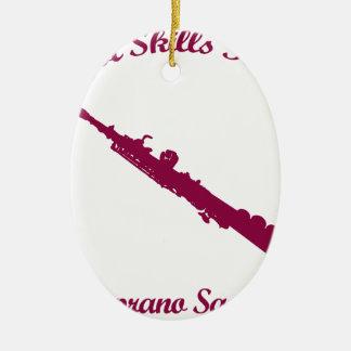 diseños del musical del saxofón del soprano adorno ovalado de cerámica