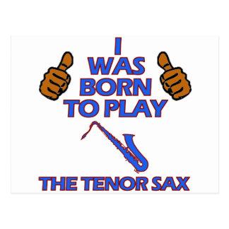 diseños del Musical del saxofón del tenor Postal
