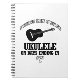 diseños del Musical del ukulele Libreta Espiral