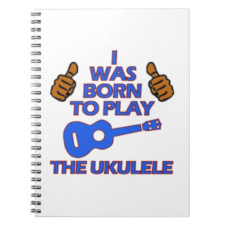 Diseños del Musical del UKULELE Spiral Notebooks