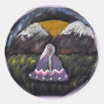Diseños del nativo americano etiquetas redondas