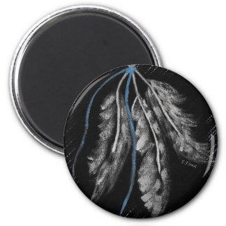 Diseños del nativo americano imán redondo 5 cm