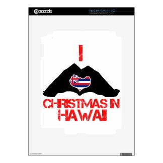 Diseños del navidad del estado de Hawaii iPad 2 Calcomanía