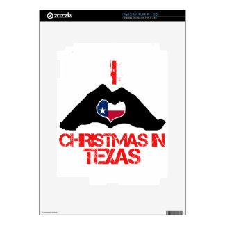Diseños del navidad del estado de Tejas Skin Para El iPad 2