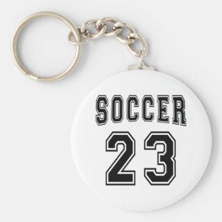 Diseños del número 23 del fútbol llavero personalizado