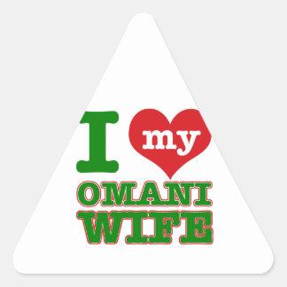 Diseños del país de Omán Pegatina Triangular