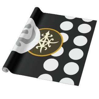 Diseños del papel de embalaje con símbolos papel de regalo