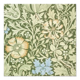 Diseños del papel pintado de William Morris Invitaciones Personalizada