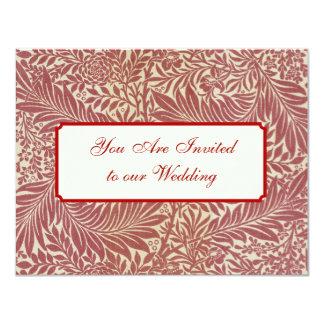 """Diseños del papel pintado de William Morris Invitación 4.25"""" X 5.5"""""""