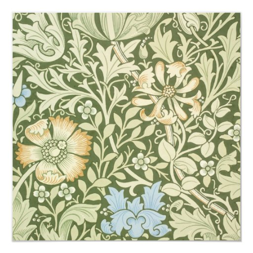 """Diseños del papel pintado de William Morris Invitación 5.25"""" X 5.25"""""""