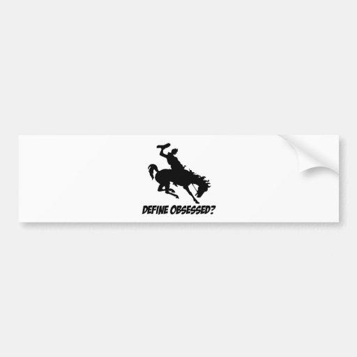 diseños del paseo del bronc pegatina de parachoque