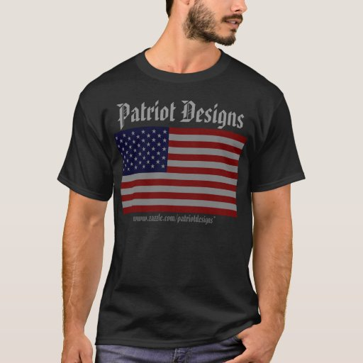 Diseños del patriota de los E.E.U.U. - oscuridad Playera