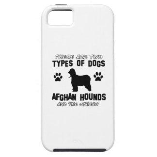 Diseños del perro de afgano iPhone 5 coberturas