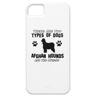 Diseños del perro de afgano iPhone 5 Case-Mate cobertura