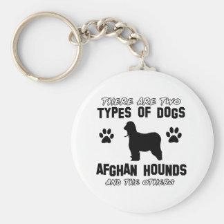 Diseños del perro de afgano llaveros personalizados