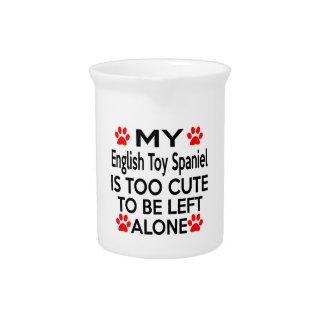 Diseños del perro de aguas de juguete inglés jarras para bebida