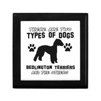 Diseños del perro de Bedlington Terrier Caja De Joyas