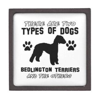 Diseños del perro de Bedlington Terrier Caja De Regalo De Calidad