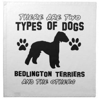 Diseños del perro de Bedlington Terrier Servilleta