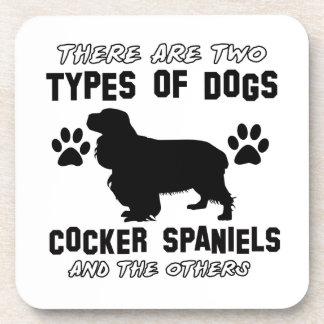 diseños del perro de cocker spaniel posavasos de bebida