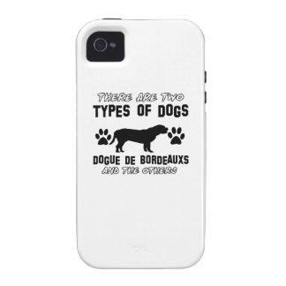 Diseños del perro de Dogue de Bordeaux iPhone 4 Fundas