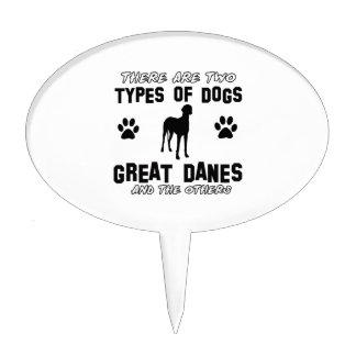 Diseños del perro de great dane decoración de tarta