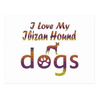 Diseños del perro de Ibizan Tarjetas Postales