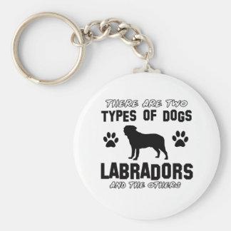 Diseños del perro de Labrador Llavero Redondo Tipo Pin