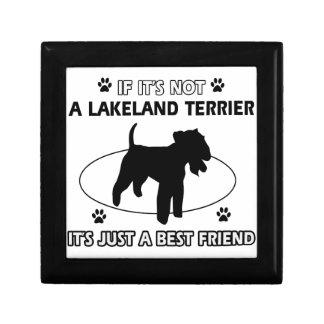 Diseños del perro de LAKELAND TERRIER Caja De Recuerdo