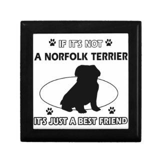 Diseños del perro de NORFOLK TERRIER Cajas De Recuerdo
