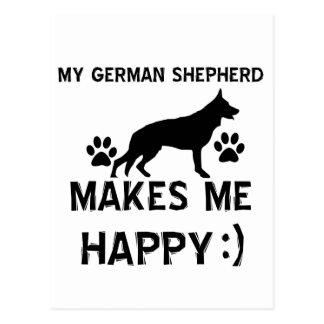 Diseños del perro de pastor alemán postal