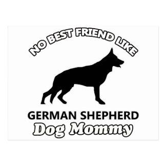 diseños del perro de pastor alemán postales