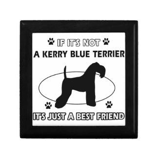 Diseños del perro de TERRIER de AZUL de KERRY Cajas De Regalo