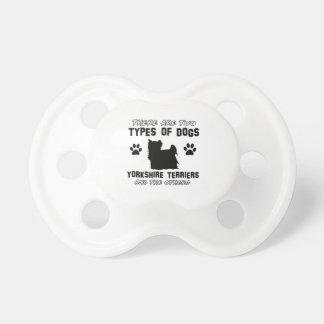 Diseños del perro de Yorkshire Terrier Chupete De Bebe