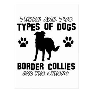diseños del PERRO del border collie Postal