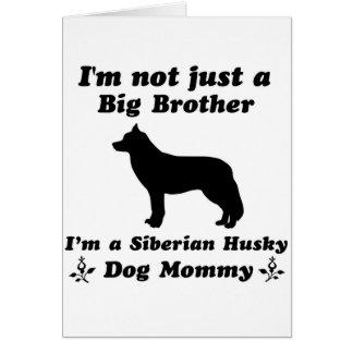 diseños del perro del husky siberiano tarjeta de felicitación