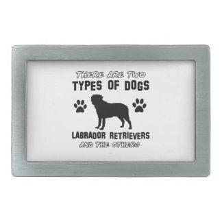 Diseños del perro del labrador retriever hebilla cinturon rectangular