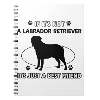 Diseños del perro del LABRADOR RETRIEVER Libro De Apuntes