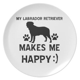 Diseños del perro del labrador retriever plato