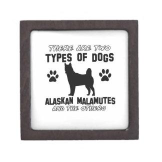 Diseños del perro del Malamute de Alaska Caja De Joyas De Calidad