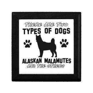 Diseños del perro del Malamute de Alaska Caja De Regalo