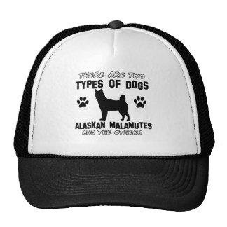 Diseños del perro del Malamute de Alaska Gorras De Camionero