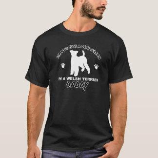 Diseños del perro del papá de TERRIER GALÉS Playera