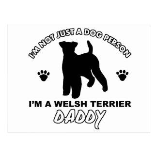 Diseños del perro del papá de TERRIER GALÉS Tarjeta Postal