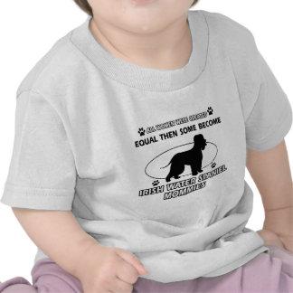 Diseños del perro del perro de aguas de agua irlan camiseta