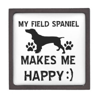 Diseños del perro del perro de aguas de campo caja de recuerdo de calidad